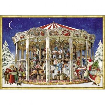 Nostalgisches Weihnachtskarussell. Adventskalender