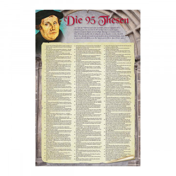 Poster »Die 95 Thesen nach Martin Luther«