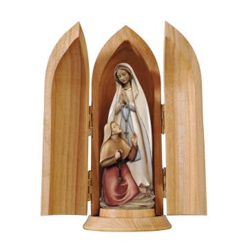Holzfigur »Heilige Madonna und Bernadette von Lourdes«