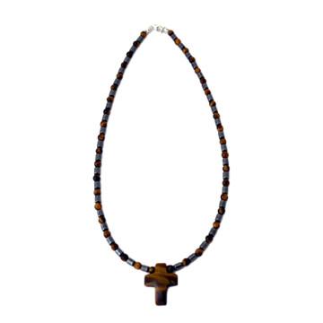 Edelsteinkette mit Kreuz