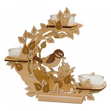 Teelichthalter »Blütenkranz«