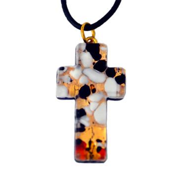 Kreuz aus venezianischem Muranoglas