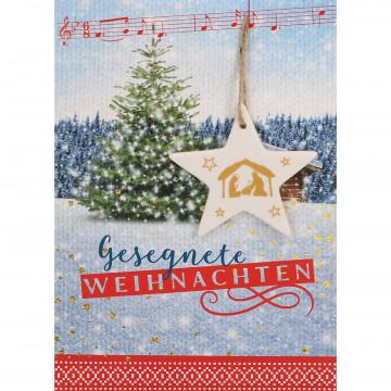 Glückwunschkarte Gesegnete Weihnachten (5 Stück)