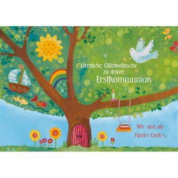 Glückwunschkarte - Herzliche Glückwünsche zu deiner Erstkommunion (6 Stück)