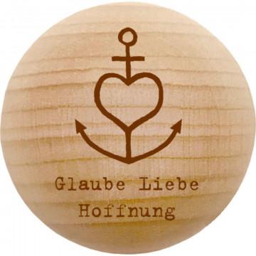 Holz-Handschmeichler - Glaube, Liebe, Hoffnung