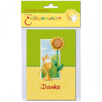 Danksagungsskarten zur Erstkommunion (1 Stück)