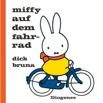 Miffy auf dem Fahrrad