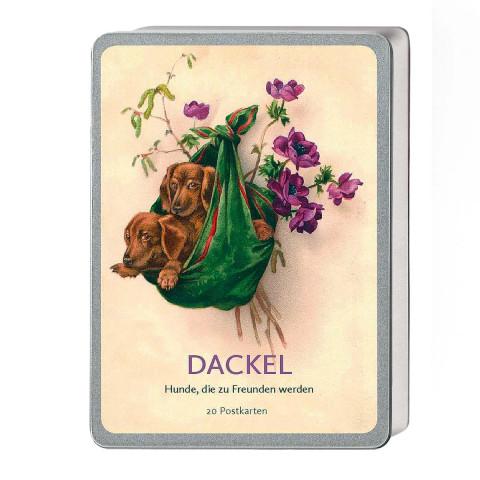 Postkartenbox »Dackel - Hunde die zu Freunden werden«