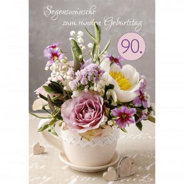 Glückwunschkarte - Segenswünsche zum runden Geburtstag (6 Stück)
