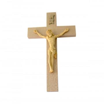 Holzkreuz mit Kunstharz-Korpus