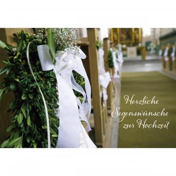 Glückwunschkarte Herzliche Segenswünsche zur Hochzeit (6 Stück)