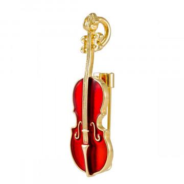 Brosche »Geige«