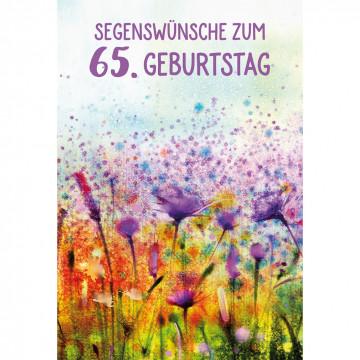 Glückwunschkarte Segenswünsche zum 65. Geburtstag (6 Stück)