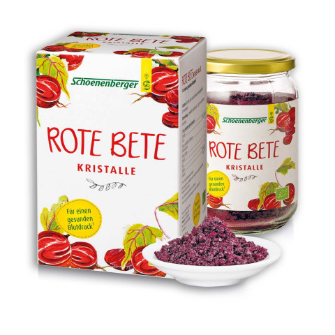 Rote Beete Kristalle