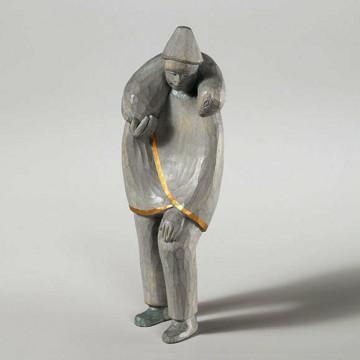 Krippenfigur »Hirte mit Schulterschaf«