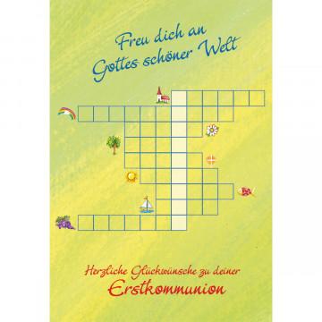 Glückwunschkarte zur Kommunion Herzliche Glückwünsche zu deiner Erstkommunion (6 Stück)