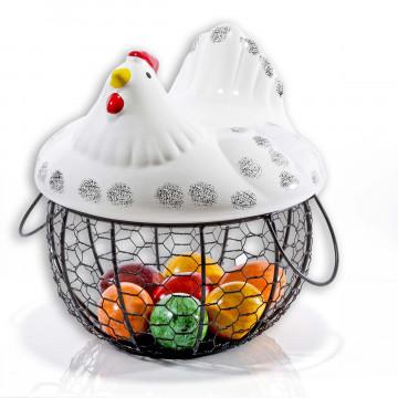 Früchte- und Eierkorb »Henne«