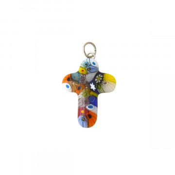 Kreuz Anhänger »Murano-Glas«