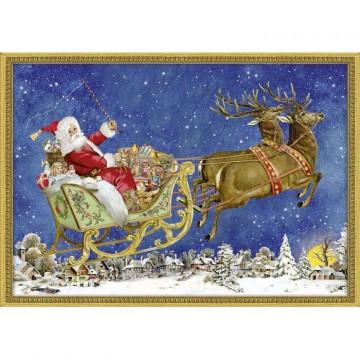 Nostalgischer Weihnachtsschlitten. Adventskalender