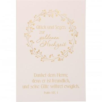 Glückwunschkarter Glück und Segen zur goldenen Hochzeit (6 Stück)