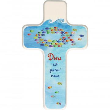 """Kinderkreuz """"Jésus est parmi nous"""" (1 Stück)"""