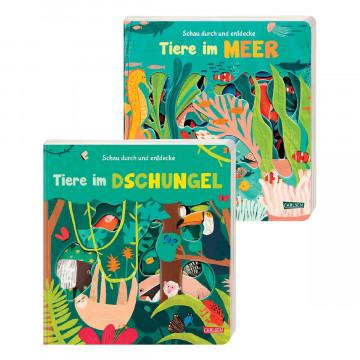 2er-Set Kinderbücher »Schau durch und entdecke«