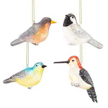 4er Set Glasanhänger Vögelchen