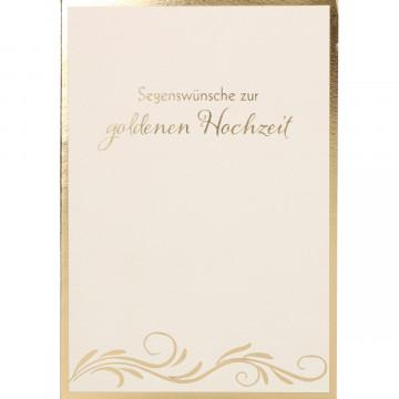Glückwunschkarte - Segenswünsche zur goldenen Hochzeit (6 Stück)