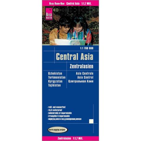 Reise Know-How Landkarte Zentralasien / Central Asia (1:1.700.000) : Usbekistan, Kirgisistan, Turkme