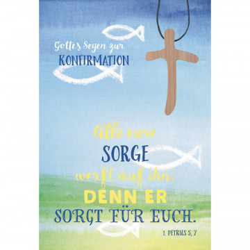 Glückwunschkarte »Gottes Segen zur Konfirmation« (5 Stück)