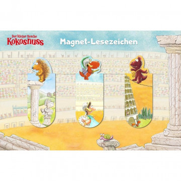 Der kleine Drache Kokosnuss - Magnet-Lesezeichen 3er Set
