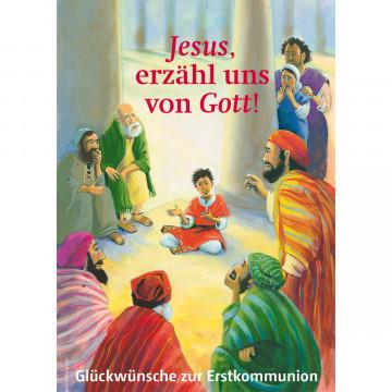 Glückwunschkarte Glückwünsche zur Erstkommunion (6 Stück)