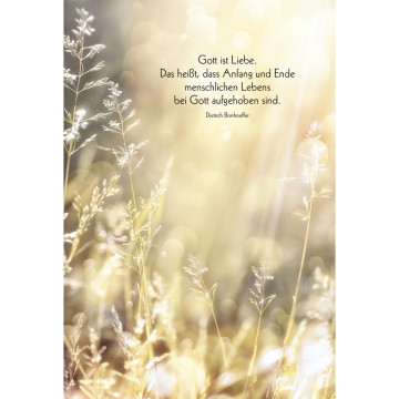 Trauerkarte Gott ist Liebe (6 Stück)