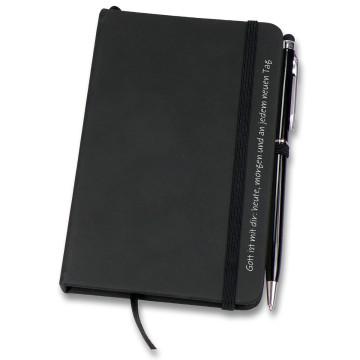 Set: Notizbuch und Stift mit Touch-Pin