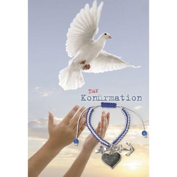 Glückwunschkarte mit Armband Zur Konfirmation (5 Stück)