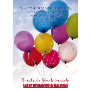 Postkarte Herzliche Glückwünsche zum Geburtstag (10 Stück)