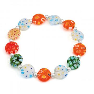 Perlen-Armband im Muranoglas-Stil