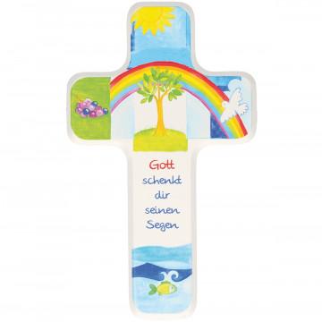 Kinderholzkreuz - Gott schenkt dir seinen Segen (1 Stück)