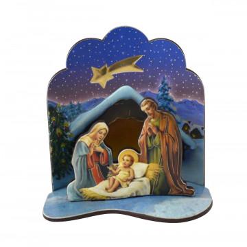 Krippe »Heilige Familie & Stern«