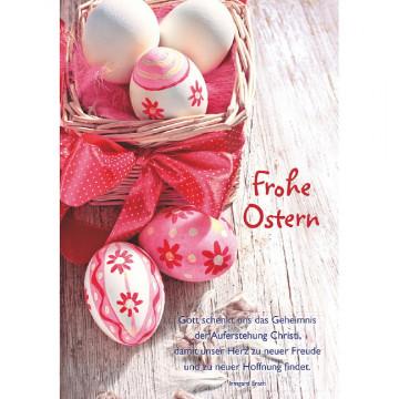 Doppelkarte Frohe Ostern (6 Stück)