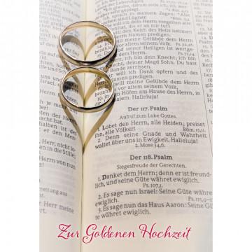 Glückwunschkarte Zur Goldenen Hochzeit (6 Stück)