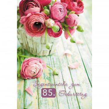 Glückwunschkarte Segenswünsche zum 85. Geburtstag (6 Stück)